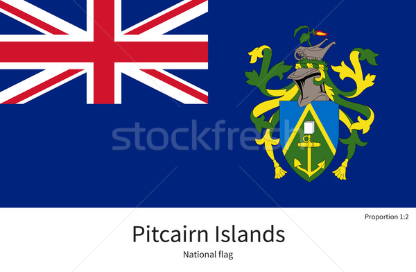 National flag of Pitcairn Islands with correct proportions, element, colors Stock photo © tkacchuk