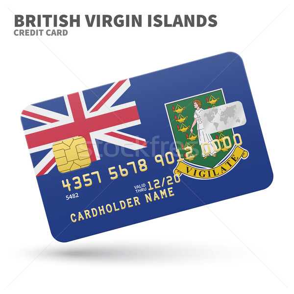 Credit card with British Virgin Islands flag background for bank, presentations and business. Isolat Stock photo © tkacchuk