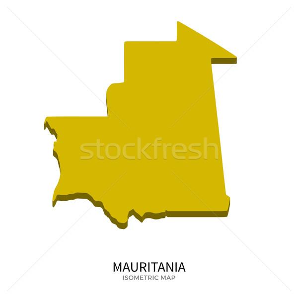 Isometric map of Mauritania detailed vector illustration Stock photo © tkacchuk