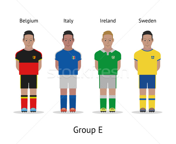 Players kit. Football championship in France 2016. Group E - Belgium, Italy, Ireland, Sweden Stock photo © tkacchuk