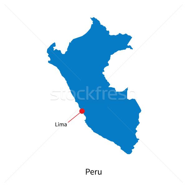 Részletes vektor térkép Peru város Lima Stock fotó © tkacchuk
