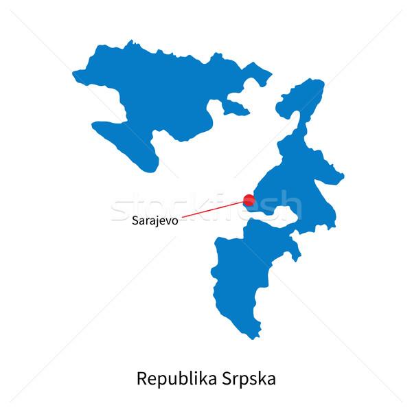 Detallado vector mapa ciudad educación azul Foto stock © tkacchuk