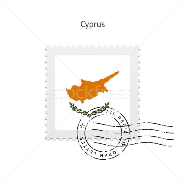 Ciprus zászló postabélyeg fehér felirat levél Stock fotó © tkacchuk