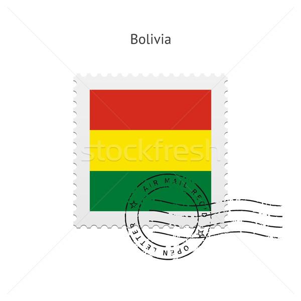 Bolívia zászló postabélyeg fehér felirat levél Stock fotó © tkacchuk