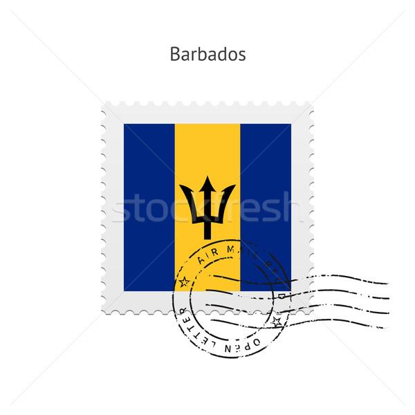 Barbados Flag Postage Stamp. Stock photo © tkacchuk