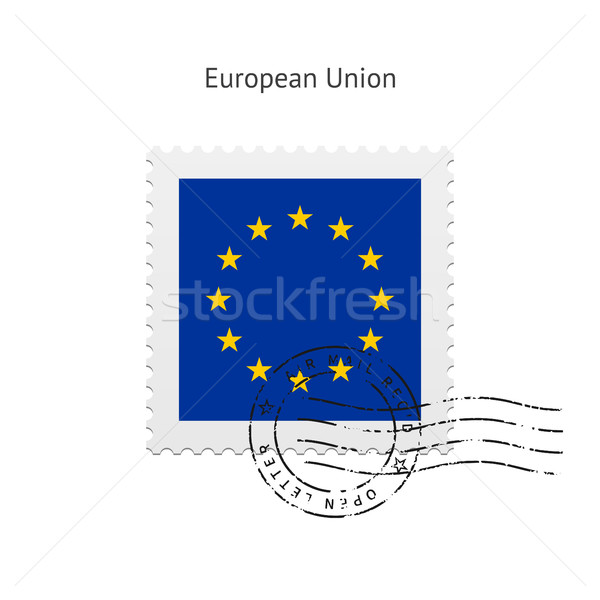 European Union Flag Postage Stamp. Stock photo © tkacchuk