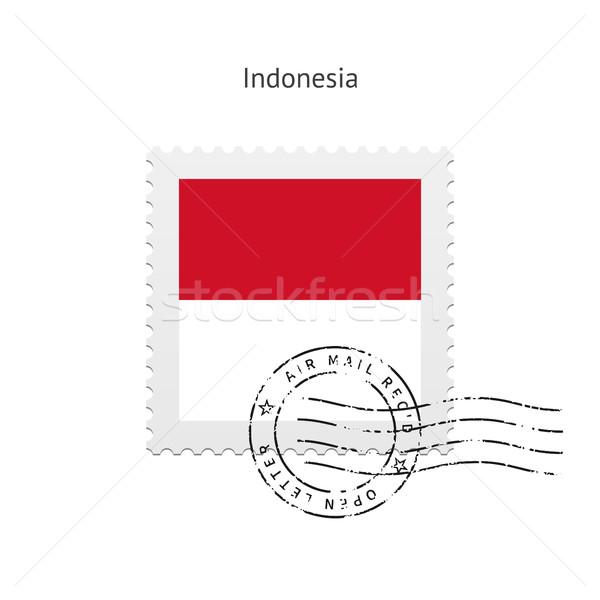 Indonesia Flag Postage Stamp. Stock photo © tkacchuk