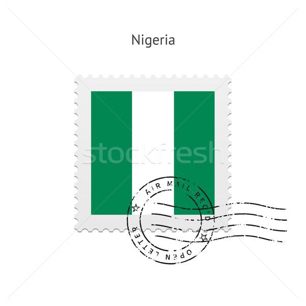 Nigéria bandeira branco assinar carta Foto stock © tkacchuk