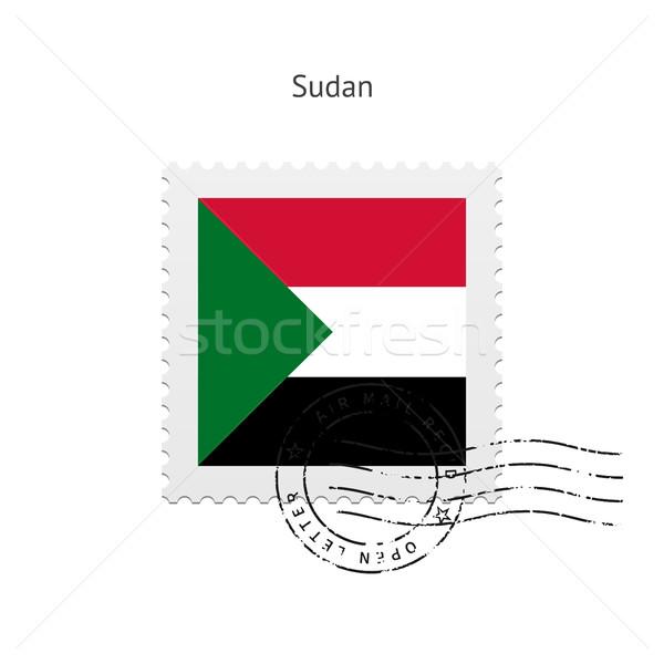 Szudán zászló postabélyeg fehér felirat levél Stock fotó © tkacchuk