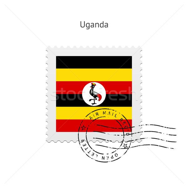 Uganda Flag Postage Stamp. Stock photo © tkacchuk