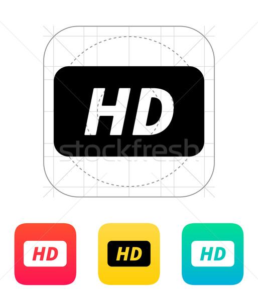 Icon technologie frame monitor film Stockfoto © tkacchuk