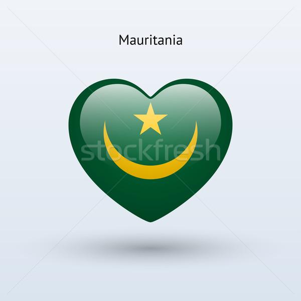Love Mauritania symbol. Heart flag icon. Stock photo © tkacchuk