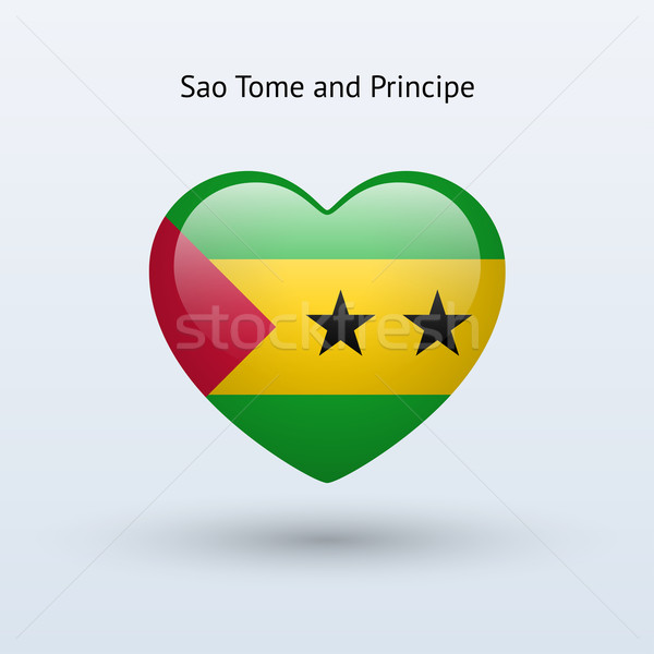 Love Sao Tome and Principe symbol. Heart flag icon. Stock photo © tkacchuk