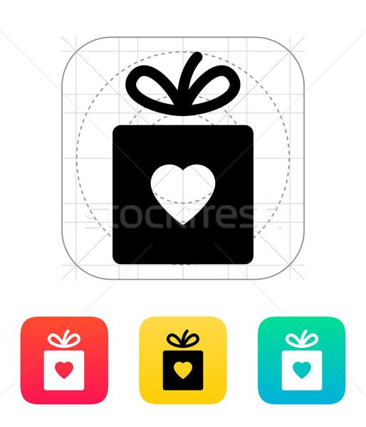 Box with heart icon. Stock photo © tkacchuk