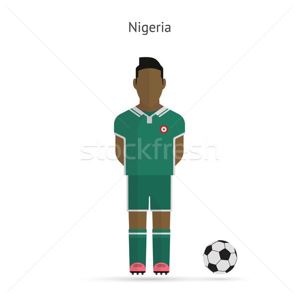 Nigéria futebol equipe uniforme homem Foto stock © tkacchuk