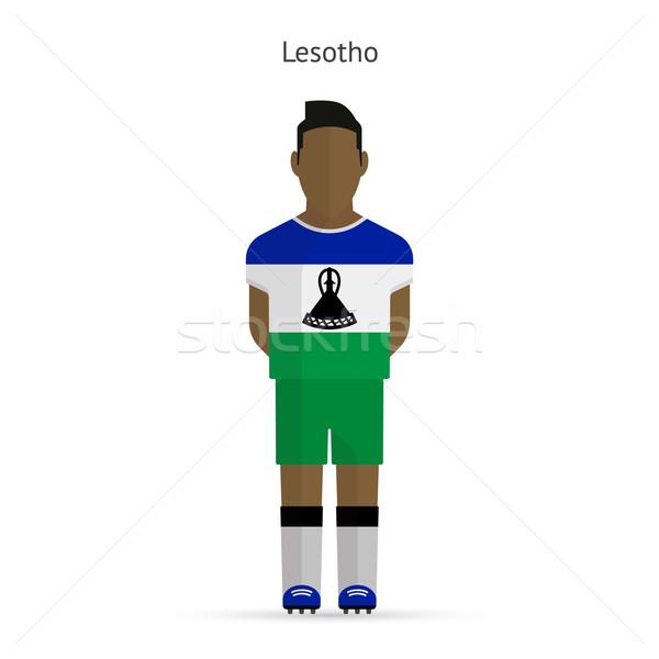 Lesotho piłka nożna uniform streszczenie fitness Zdjęcia stock © tkacchuk