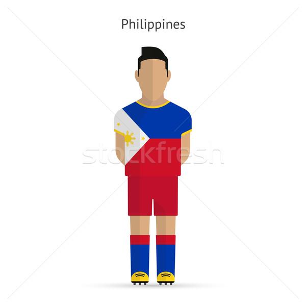 Philippines football uniforme résumé fitness Photo stock © tkacchuk