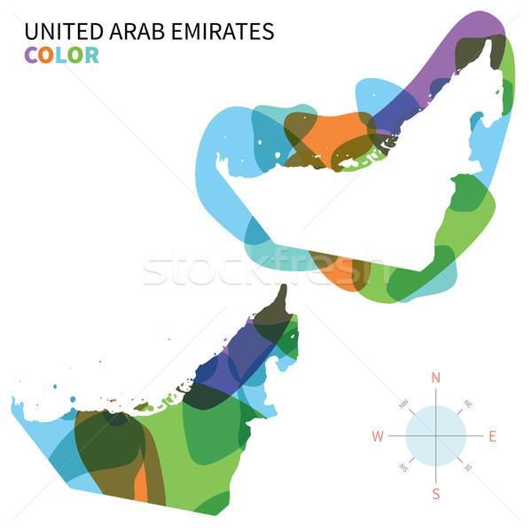 Soyut vektör renk harita Birleşik Arap Emirlikleri şeffaf Stok fotoğraf © tkacchuk