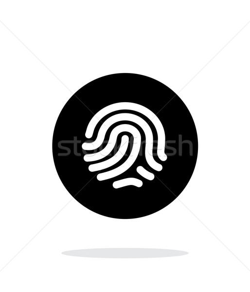 Skaner ikona biały strony bezpieczeństwa graficzne Zdjęcia stock © tkacchuk