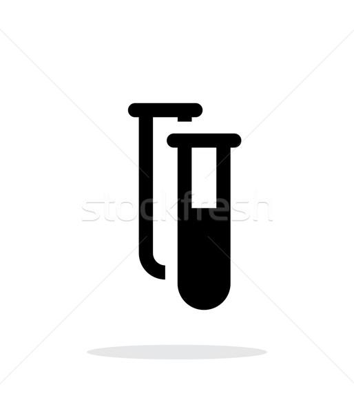 Stock photo: Test tubes simple icon on white background.