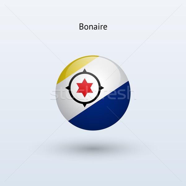 Bonaire round flag. Vector illustration. Stock photo © tkacchuk