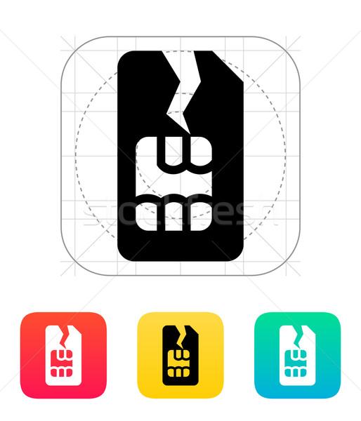 Dommage carte icône téléphone internet téléphone Photo stock © tkacchuk