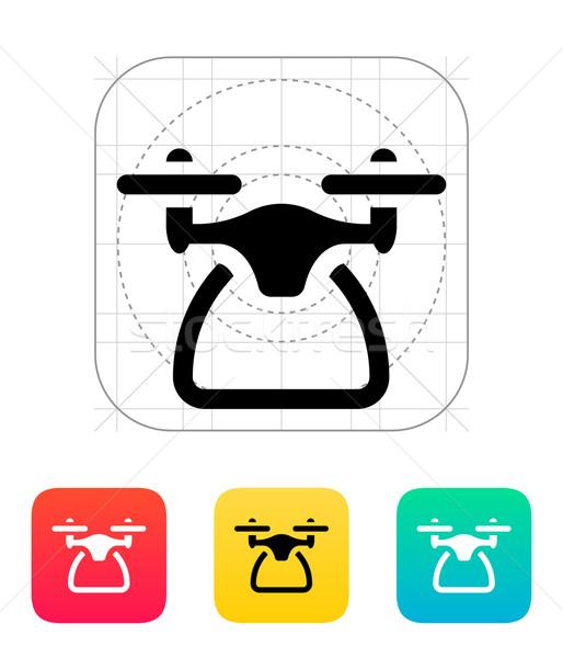 Quadcopter side view icon. Stock photo © tkacchuk