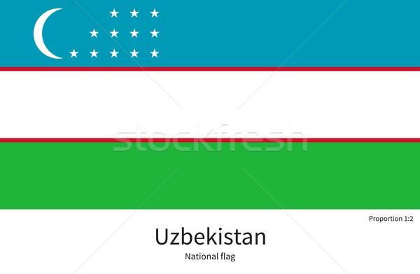 Bayrak Özbekistan düzeltmek renkler eğitim Stok fotoğraf © tkacchuk