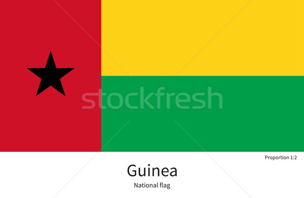 National flag of Guinea with correct proportions, element, colors Stock photo © tkacchuk