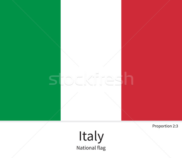 National flag of Italy with correct proportions, element, colors Stock photo © tkacchuk