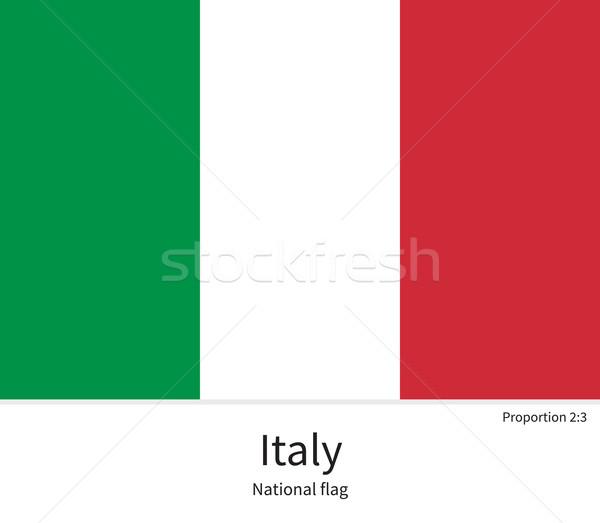 Bayrak İtalya düzeltmek renkler eğitim Stok fotoğraf © tkacchuk