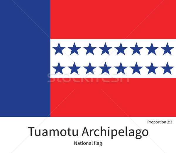 National flag of Tuamotu Archipelago with correct proportions, element, colors Stock photo © tkacchuk