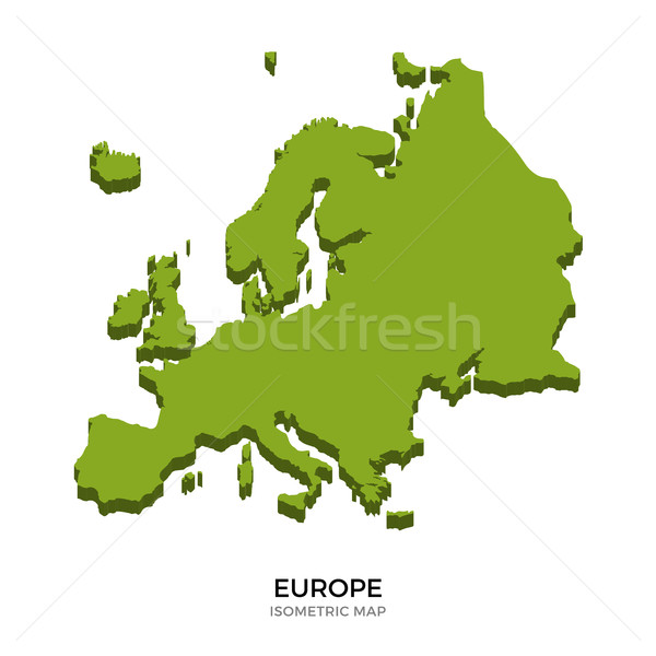 Isometric map of Europe detailed vector illustration Stock photo © tkacchuk