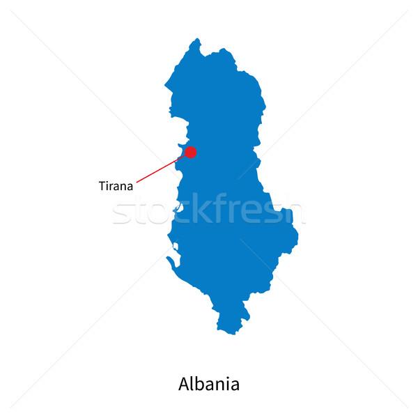 Detailed vector map of Albania and capital city Tirana Stock photo © tkacchuk