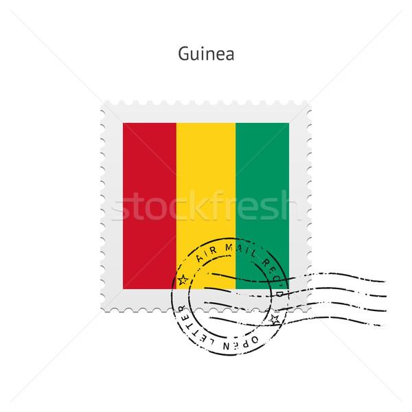 Guinea Flag Postage Stamp. Stock photo © tkacchuk