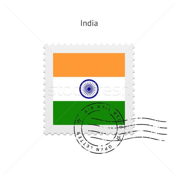 India Flag Postage Stamp. Stock photo © tkacchuk