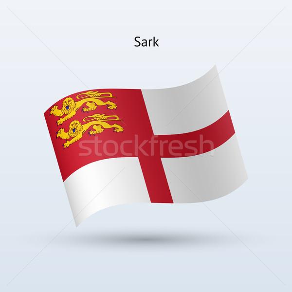 Sark flag waving form. Vector illustration. Stock photo © tkacchuk