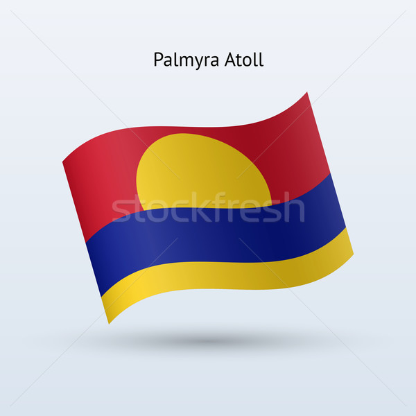 Palmyra Atoll flag waving form. Stock photo © tkacchuk