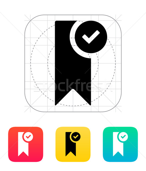 Check bookmark icon. Stock photo © tkacchuk