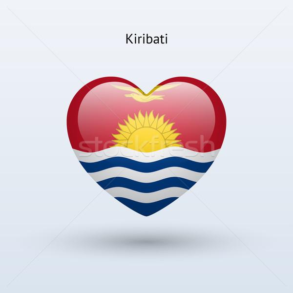 Love Kiribati symbol. Heart flag icon. Stock photo © tkacchuk