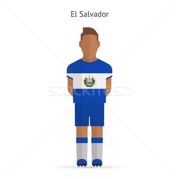 エルサルバドル サッカー ユニフォーム 抽象的な フィットネス ストックフォト © tkacchuk