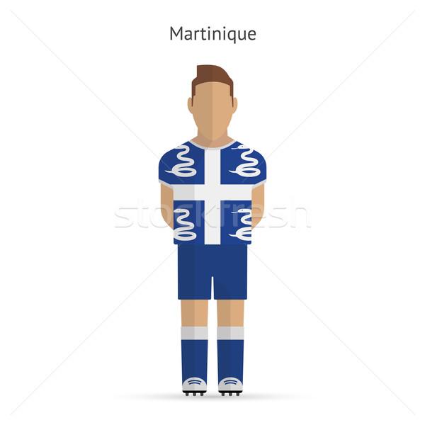 Futbolista fútbol uniforme resumen fitness equipo Foto stock © tkacchuk