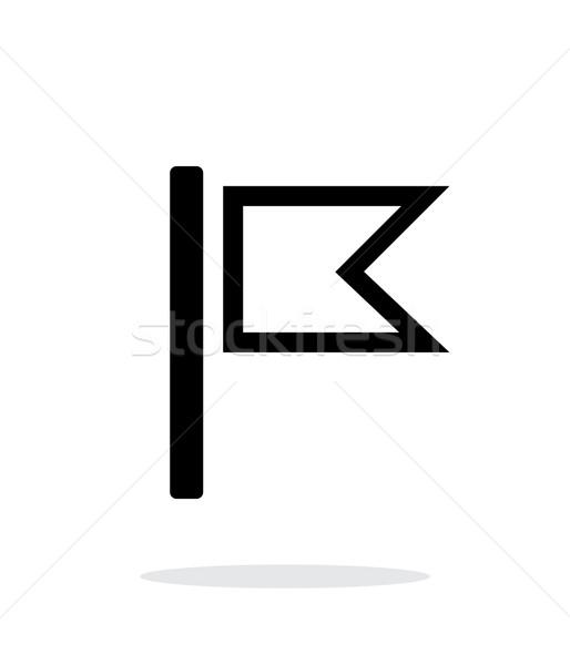 Burgee flag icon on white background. Stock photo © tkacchuk