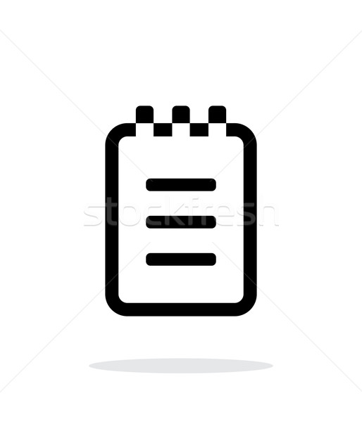 Notepad simple icon on white background. Stock photo © tkacchuk