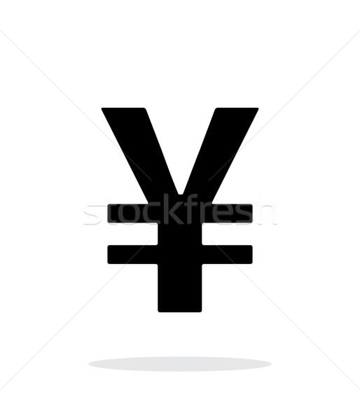 Chinese yuan icon on white background. Stock photo © tkacchuk