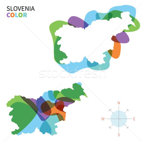 Abstrato vetor cor mapa Eslovenia transparente Foto stock © tkacchuk