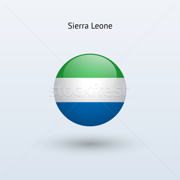 Sierra Leone round flag. Vector illustration. Stock photo © tkacchuk