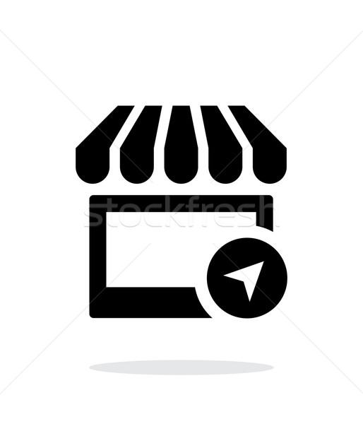 Shop location icon on white background. Stock photo © tkacchuk