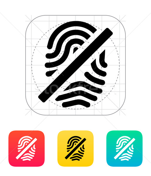 Vingerafdruk icon hand ontwerp technologie sleutel Stockfoto © tkacchuk