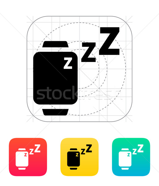 Sleep mode in smart watches icon. Stock photo © tkacchuk